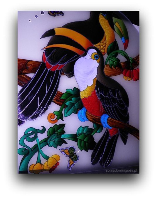 Stained Glass - Toucans