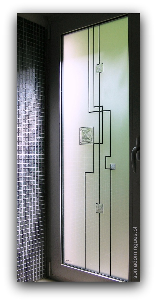 Exterior Door - Electronic Circuitry - Silver & Crystal