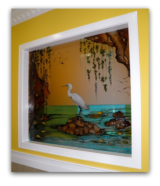 Stained Glass - Heron*
