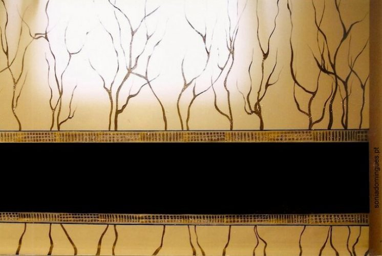 Stylized Blackout Curtain - Artistic Creation in continuity with the Porcelain