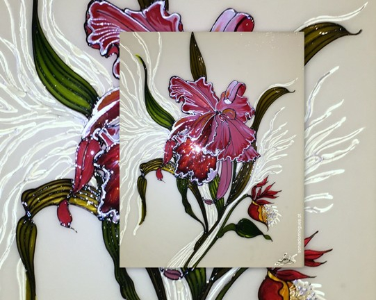 Stained Glass - Orchid