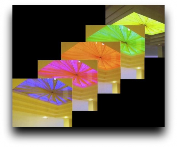 Stained Glass - Skylight - with Led illumination = Chromoterapy