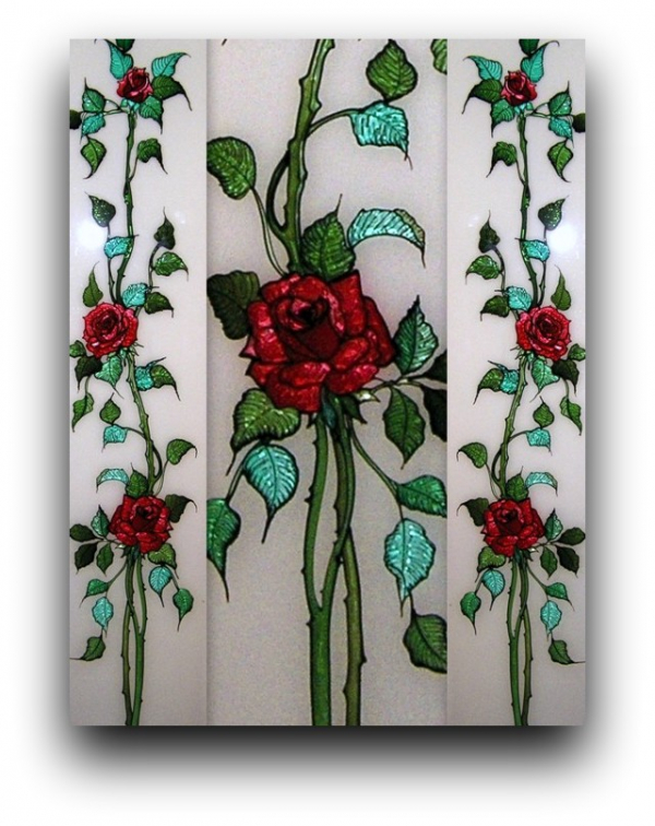 Stained Glass - Roses**