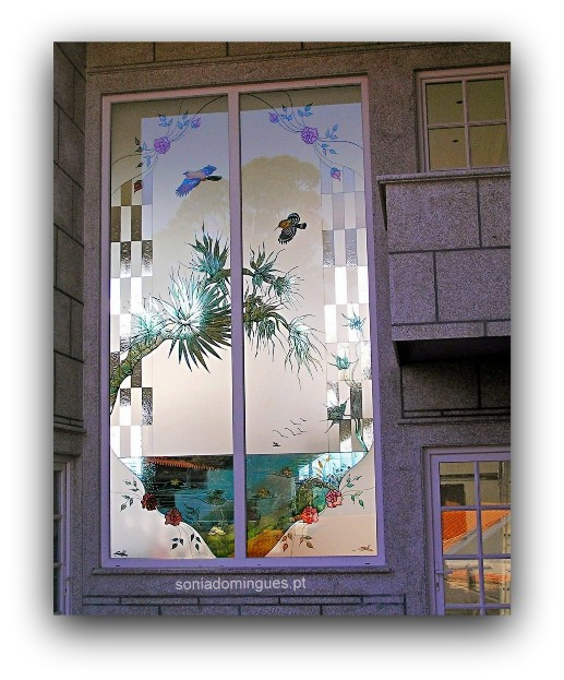 Stained Glass - Tropical Scenery 3