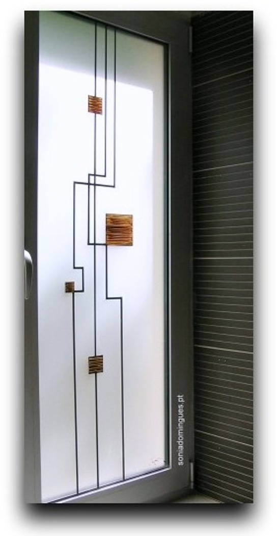 Exterior Door - Electronic Circuitry - Gold & Chocolat