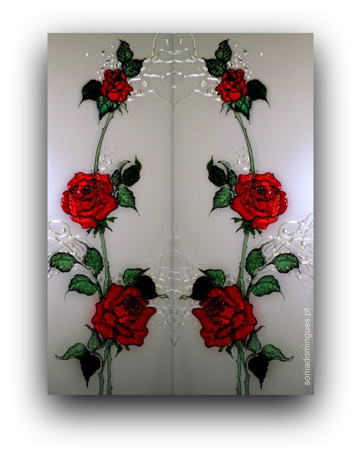 Stained Glass - Roses*