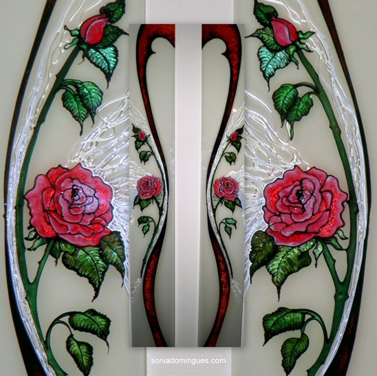 Stained Glass - Roses with Magmatics Interlaced