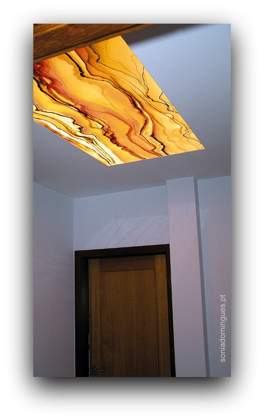 Stained Glass - Skylight - Coral Marble