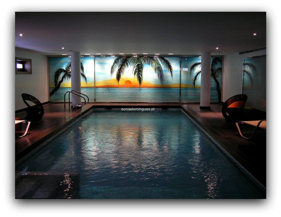 Stained Glass - Interior Pool - Tropical Scenery 1