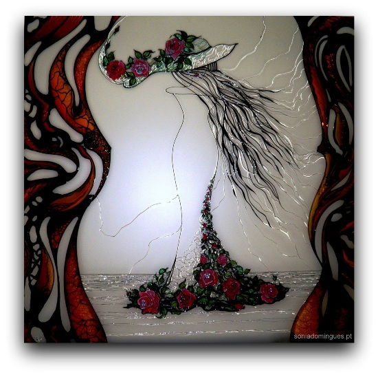 Stained Glass - Sculptural Lady of the Spring