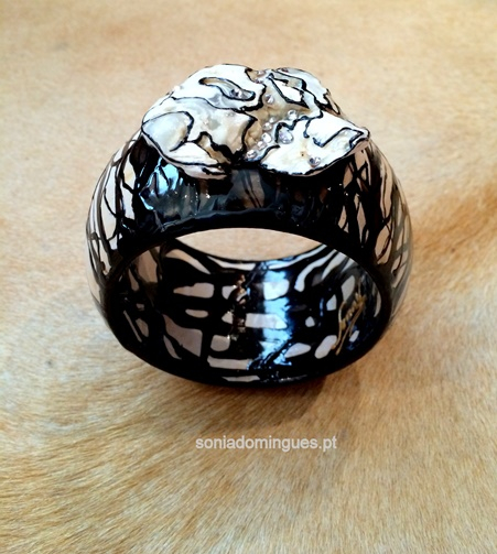 Bracelet with Zebra Effect + Biojewel + Swarovski Elements
