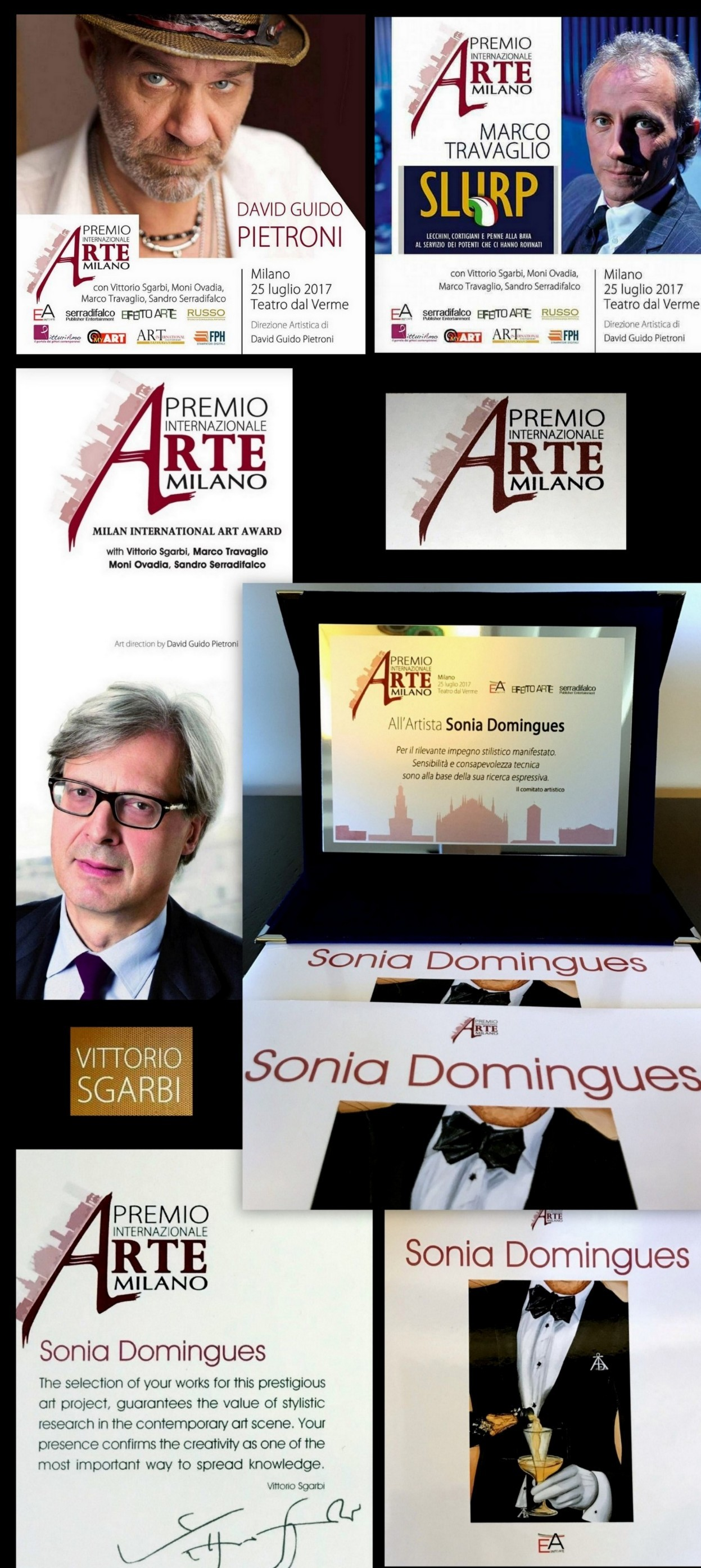 International Prize Art Milano to the Artist Sonia Domingues